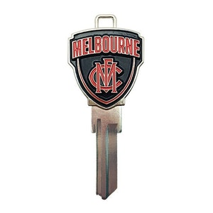 Creative Keys AFL Team Logo Key Blank TE2 - Melbourne Demons