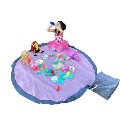 PrimaShoppe 2in1 Play Mat and Storage - Pink