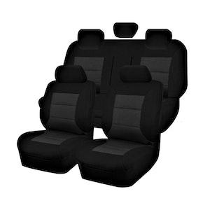 Premium Car Seat Covers For Isuzu D-Max Series 2012-2020 Dual Cab | Black