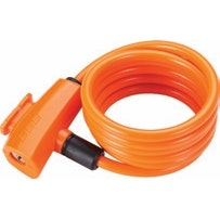 BicycleLock Quicksafe 8MM X 1500MM Coilcable Orange