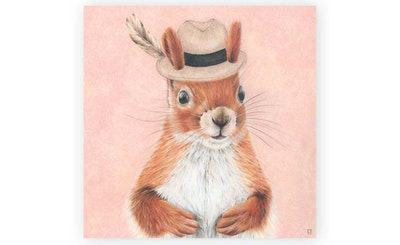 """Print: """"Metro Squirrel"""""""