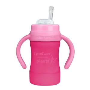 green sprouts Sprout Ware Straw Cup made from Plants-6oz-Pink-9mo+