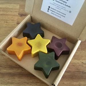 Eco Crayons Star Crayons - 100% Natural Plant Based Crayons