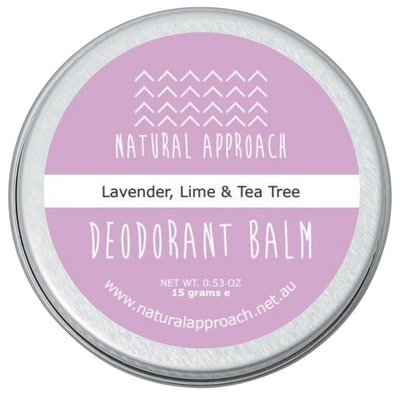 Natural Approach 15g - Lavender, Lime & Tea Tree - Natural Deodorant