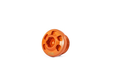 MG Biketec Oil Filler Cap (Orange) To Suit KTM Adventure Models