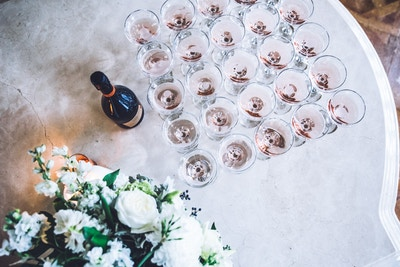 DIY CHAMPAGNE TOWER WITH CAMPBELL POINT HOUSE