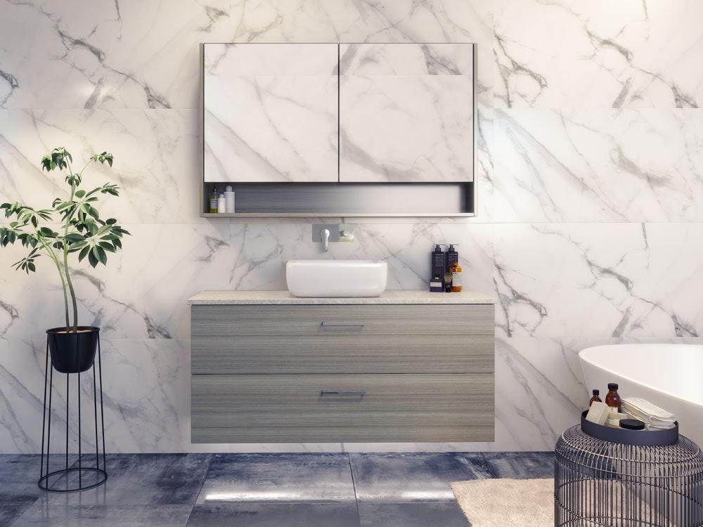 Timberline Nevada Plus Vanity Range Wall Hung With Meganite Top Amp Ceramic Basin Vanity Units