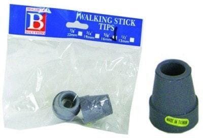 Bemed Walking Stick Tips Grey 5/8 16mm