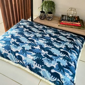 Queenie's Pawprints Replacement Cover for Eco Pet Bed/Cushion - Perfect Snooze | Jurassic Park