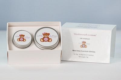 Little Button Essentials Madannah Cream, New Baby Essentials Gift Box