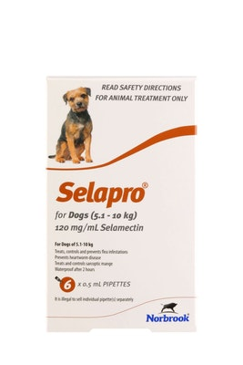 SELAPRO Spot On Treatment 5.1-10kg Dog 6 Pack