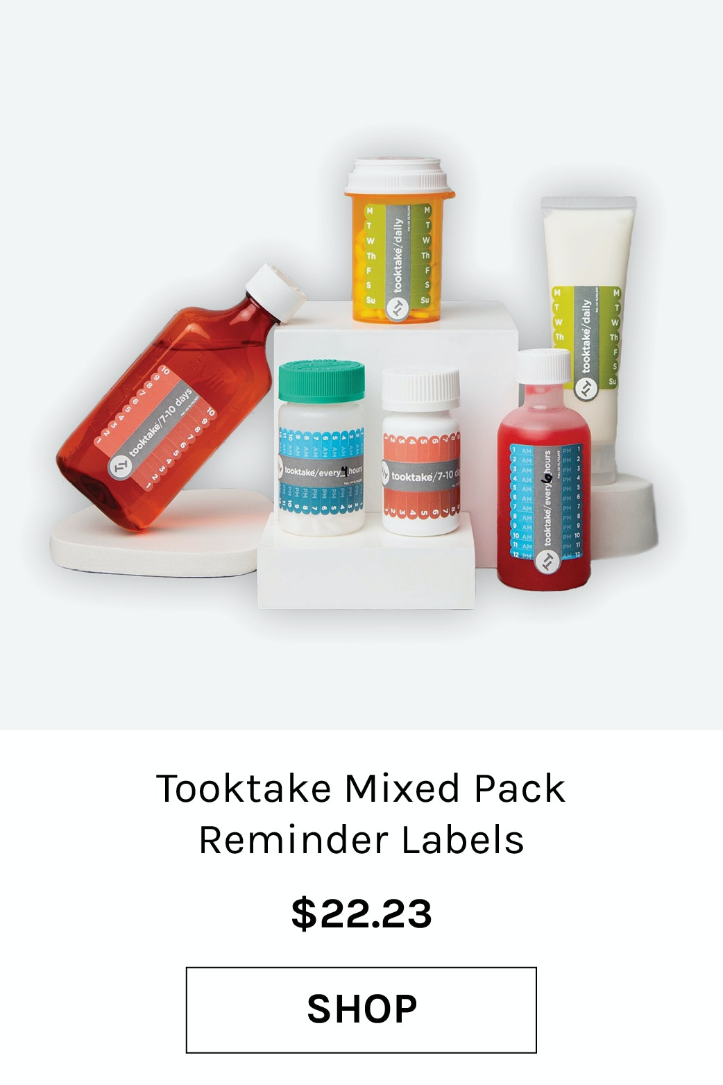 MIXED PACK of tooktake Reminder Labels