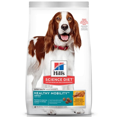 Hills Adult Healthy Mobility Dry Dog Food Chicken Meal Brown Rice & Barley 12kg