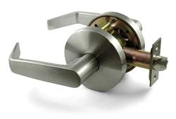 Carbine PD7082 Passage lever set 70mm back set in satin chrome plate finish