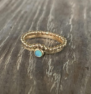 Gold & Opal Ring Stack