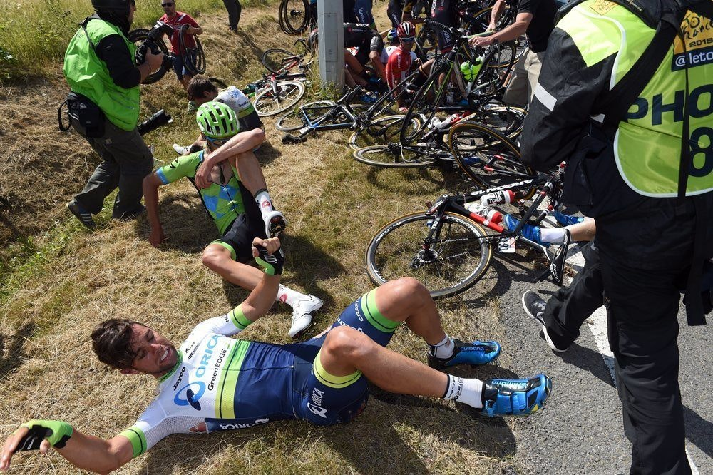 Tour de France Michael Matthews crash