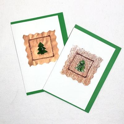 Karhina Seasonal Glass Christmas Tree Greeting Card