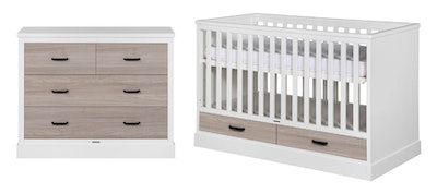 Kidsmill Portland Nursery Package. White/Oak