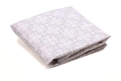 Luxo Sleep Lollipop Fitted Sheet Frost Grey