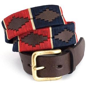 Pioneros Belt Red Navy Cream Stripe 133