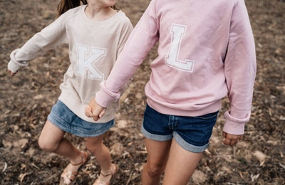 Personalised Varsity Sweater - Blush Pink