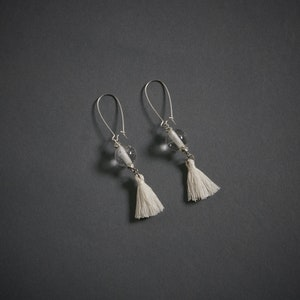 Global Sisters Shop Tassel Earrings - White