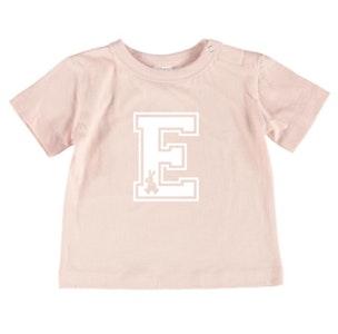 Personalised Varsity Easter Tee - Baby Pale Pink