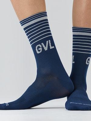 Givelo G Socks Striped Navy