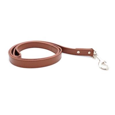 Petzy Brown - Premium Pet Lead (Silver)