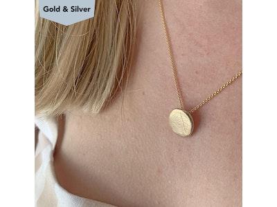 Gold leaf Pebble pendant