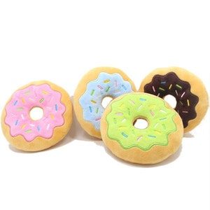 DoggyTopia Frosted Donuts With Sprinkles Dog Toy