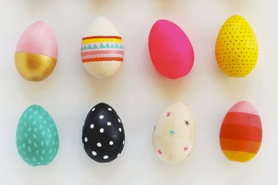 'DIY' HAND DECORATED EGGS