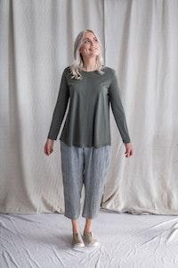 Luxe Merino Top - Khaki