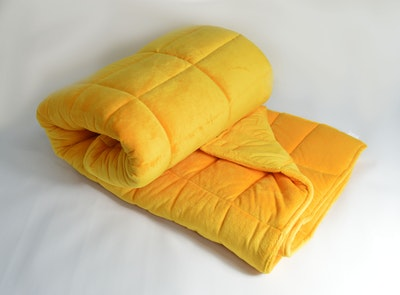 Weighted Single Bed Blanket - Saffron 3kg
