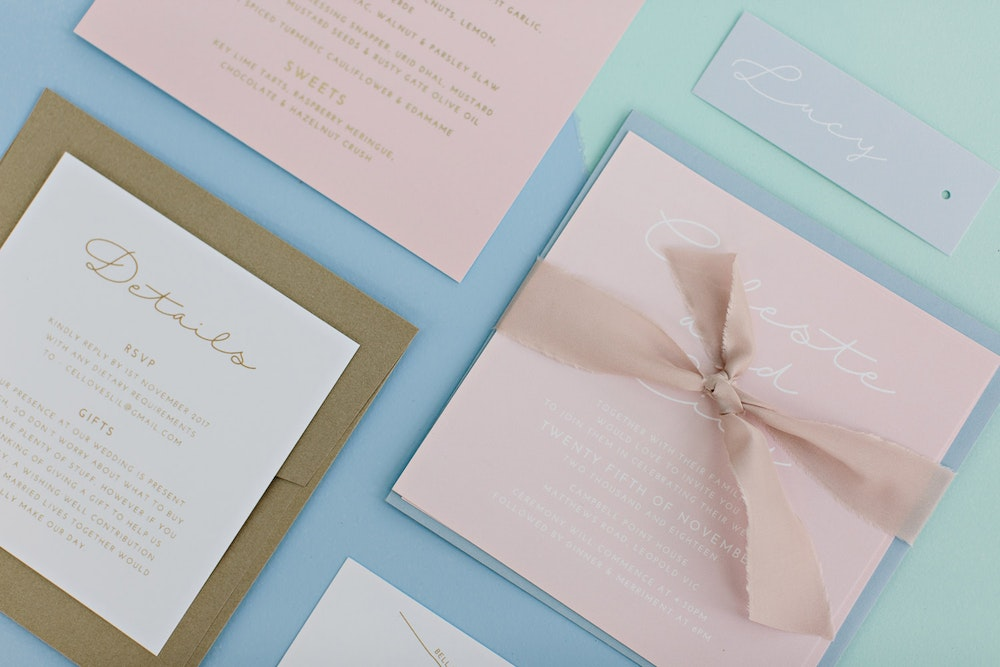 White Ink Design Co Stationery Love is Love Wedding