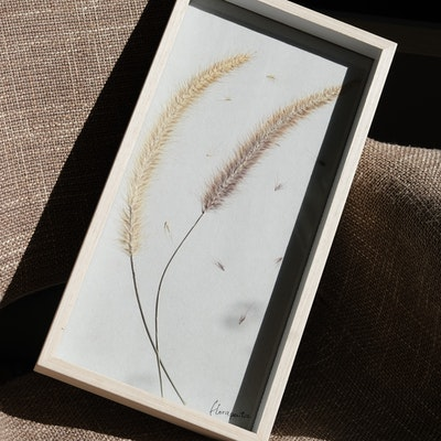 Florapeutic Dancing In The Wind - Pressed Floral Art