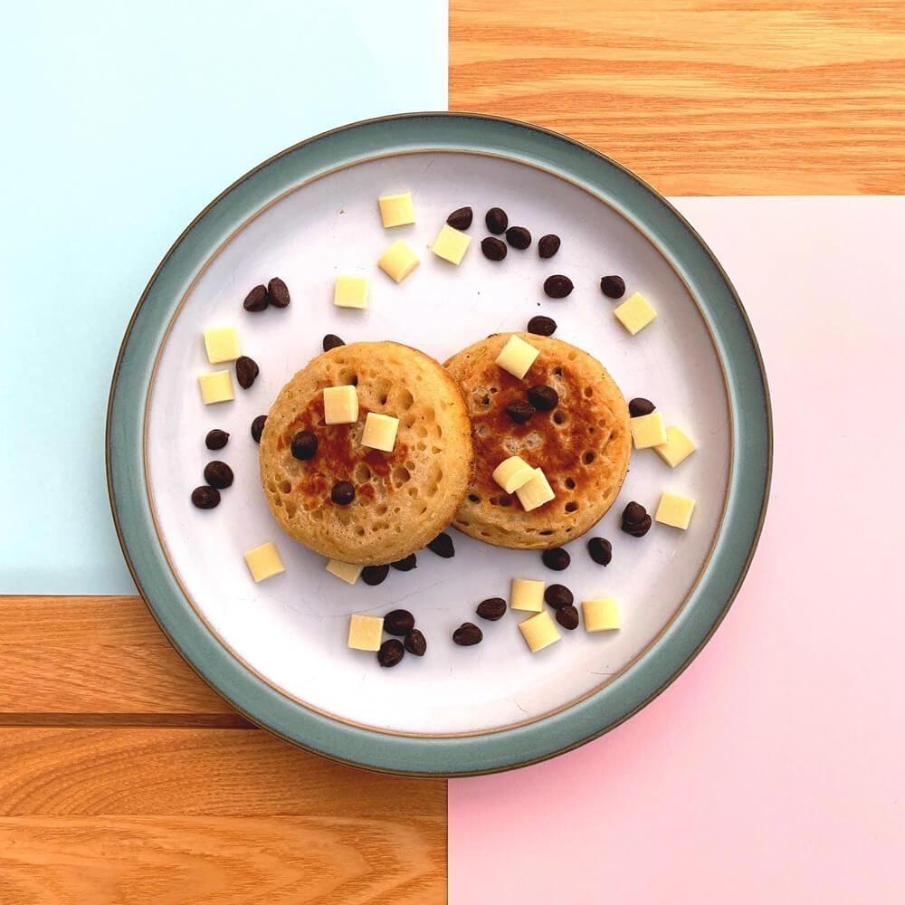 Crumpetorium Chocolate Chip Crumpets 12 Pack, Handmade