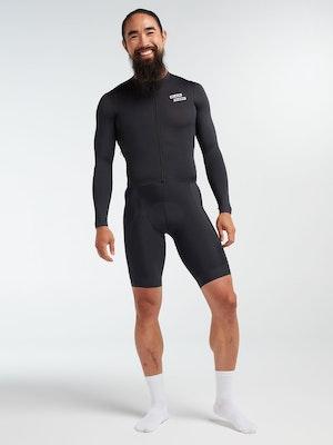 Black Sheep Cycling Men's Racing Aero Long Sleeve Jersey - Stealth Black