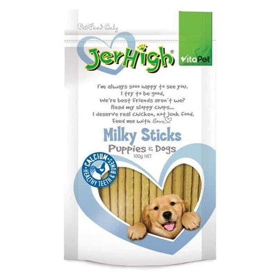 Vitapet Jerhigh Milky Sticks Dog Treats 100G