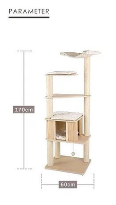 Honeypot CAT® Solid Wood Cat Tree 170cm