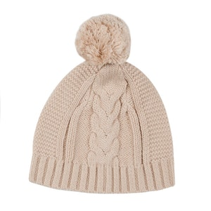 Jujo Baby Lighterweight Cable Beanie - Latte