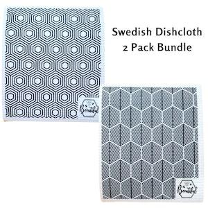 Beeutiful Swedish Dishcloth – 2 Pack Bundle