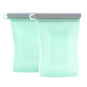 Junobie Reusable Silicone Breastmilk Storage Bags- 2pk (Mint)