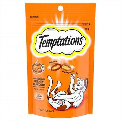 TEMPTATIONS Tantalising Turkey Cat Treats 85G