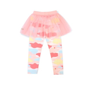 OETEO Australia Camo Flash Tulle Skirt Leggings (Pink)