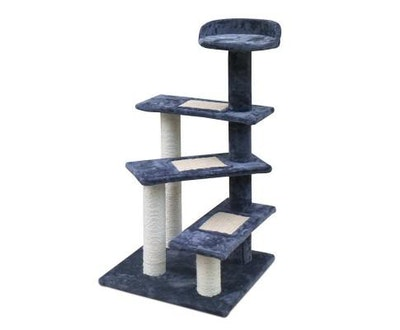 House of Pets Delight Multi Level Cat Scratching Tree - Grey