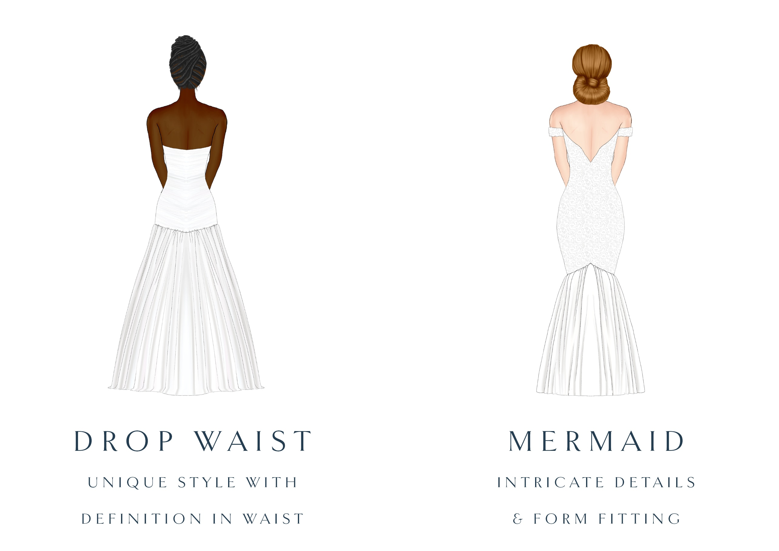 sheath and ball gown silhouette