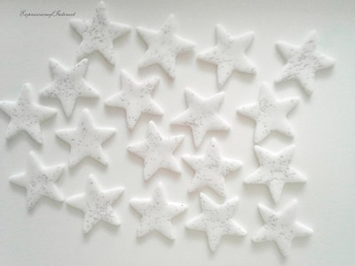 Sweet Expressions  Gold Stars, Silver Stars, Crystal Stars, Celestial, Wedding Cake Decoration