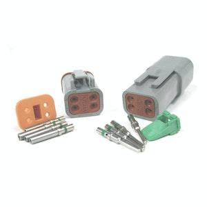 Deutsch DT 4-Way 4 Pin Electrical Connector Waterproof Plug Kit