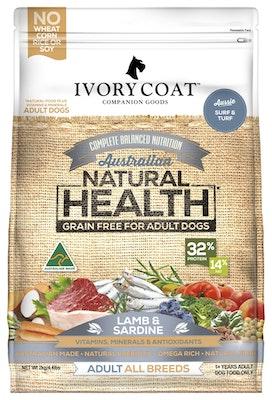 IVORY COAT Grain Free Dry Dog Food Lamb & Sardine 2kg